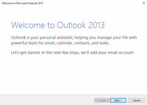 Welcome to Outlook 2013 dialog