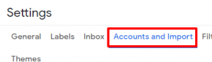 Gmail click Accounts and Import