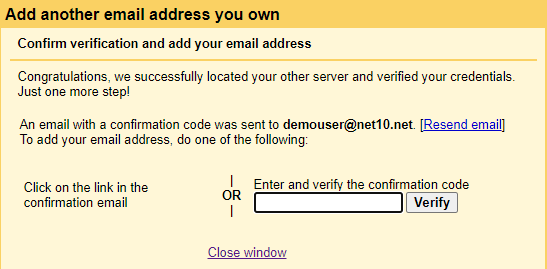 Gmail verification code