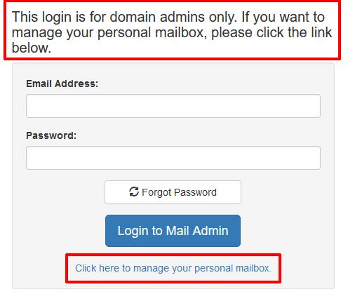 Mail Admin Login